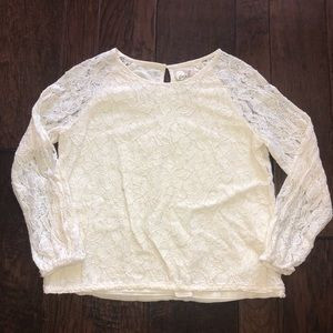 Girls PEEK lace long-sleeved shirt